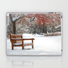 Winter Bench and Crabapple Tree Laptop & iPad Skin