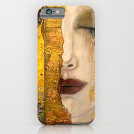 Gustav Klimt portrait The Kiss & The Golden Tears (Freya's Tears) No. 2 iPhone Case