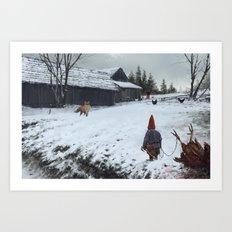 competitors Art Print