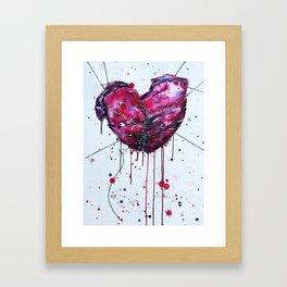Fused Hearts Framed Art Print