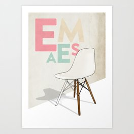Plastic Side Chair Art Print