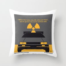 No183 My Back to the Future minimal movie poster Throw Pillow