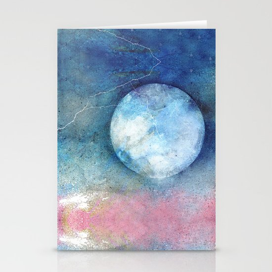 PASTEL MOON Stationery Cards