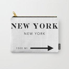 New York New York City Miles Arrow Carry-All Pouch