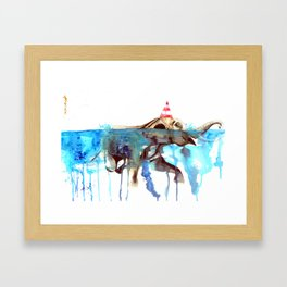 Pool Partying with Ana Framed Art Print