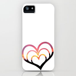 Mountains in Love I iPhone Case