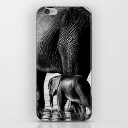 Mother and Baby Elephant iPhone Skin