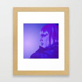 Marina Mac Purple Lipstick Framed Art Print