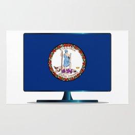 Virginia Flag TV Rug