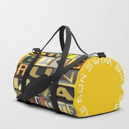 SWIM BIKE RUN I AM A TRIATHLETE 06 Duffle Bag