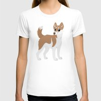 husky T-shirts featuring Red Husky by Sarah