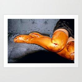 Boots of Gold Art Print