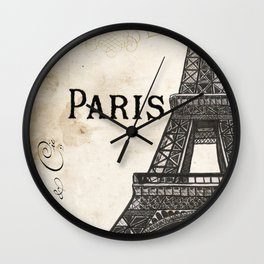 Paris Ooh La La 1 Wall Clock