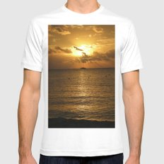Sail into the Sunset MEDIUM Mens Fitted Tee White
