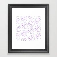 Rich / Boring (White) Framed Art Print