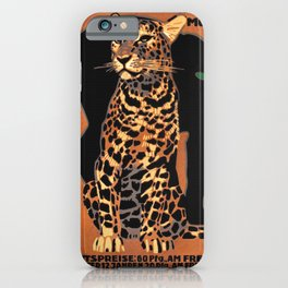 Munich Zoo Big Cats By Ludvig Hohlwein 1926 iPhone Case