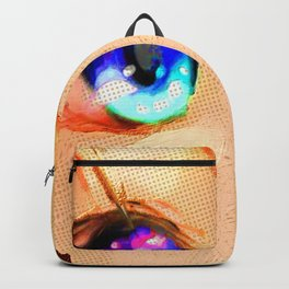 Anime Girl Eyes Gold Backpack