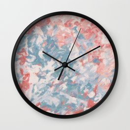Warm abstraction - soft terracotta colors Wall Clock