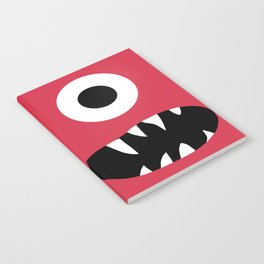 Kids Silly Red One Eyed Monster Notebook