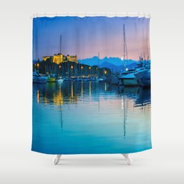 Port Vauban Antibes Shower Curtain