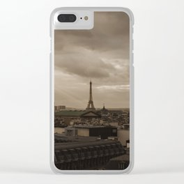 Rooftop view of Paris Clear iPhone Case