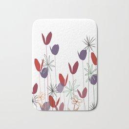 Flowers print, impresion decorativa Bath Mat