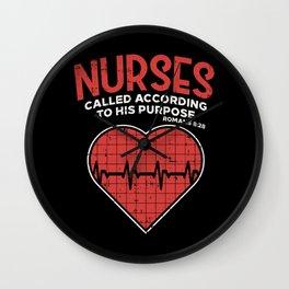 Nurses called according to his purpose - Christian Nurse Gift Wall Clock