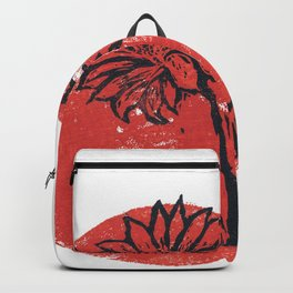 Woodblock Dotted Daisy Backpack