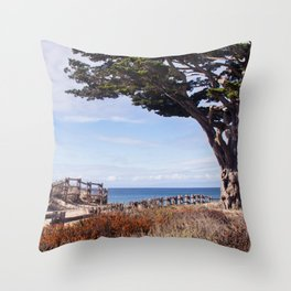 Enchanted beach Throw Pillow