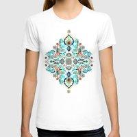 folk T-shirts featuring Modern Folk in Jewel Colors by micklyn