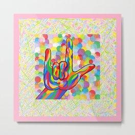 ASL I Love You for Baby Girl Nursery Metal Print