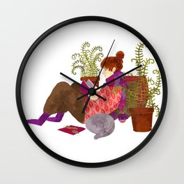 reading girl Wall Clock