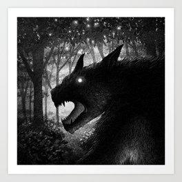 Drawlloween 2015: Werewolf Art Print