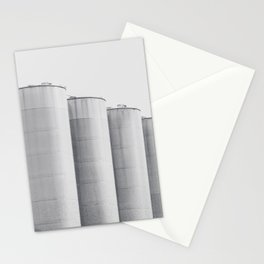 Industrial, architecture photography, fine art, black & white photo, b&w urban, man cave gift Stationery Cards