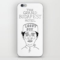 budapest hotel iPhone & iPod Skins featuring The Grand Budapest Hotel by ☿ cactei ☿