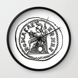 Coin Moneda Denario Denarius Wall Clock