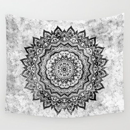 BLACK JEWEL MANDALA Wall Tapestry