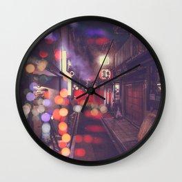 Kyoto night street Japan Wall Clock