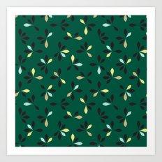 loves me loves me not pattern - hunter green Art Print