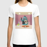 bathroom T-shirts featuring Bathroom selfie by Maria Jose Da Luz
