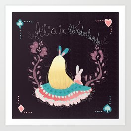 Alice In Wonderland. Art Print
