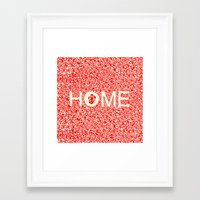wallet Framed Art Prints featuring Home:家 by aPersonalidea