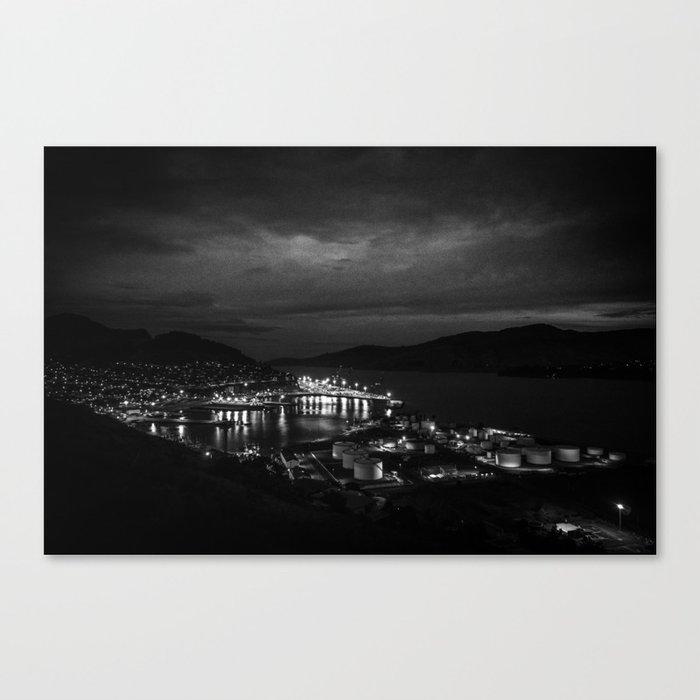 Harbour Night Sky Canvas Print