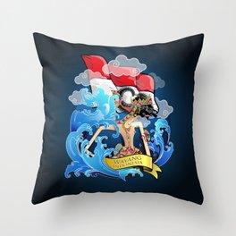 Wayang Indonesia Throw Pillow