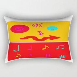 Mustard Ongaku  Rectangular Pillow