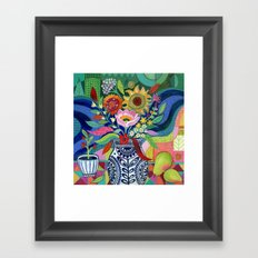 Late Summer Blooms Framed Art Print