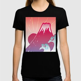 Red Mt.Fuji T-shirt