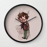 will graham Wall Clocks featuring will graham by krakenface