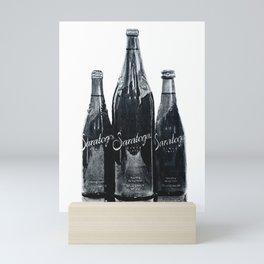 """Cobalt"" Saratoga Springs Water, Vintage Antique Art, Bottle Wall Art Mini Art Print"