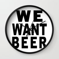 beer Wall Clocks featuring Beer by Meche A